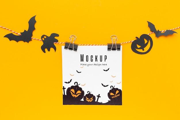 Gruseliges halloween-konzeptmodell Kostenlosen PSD