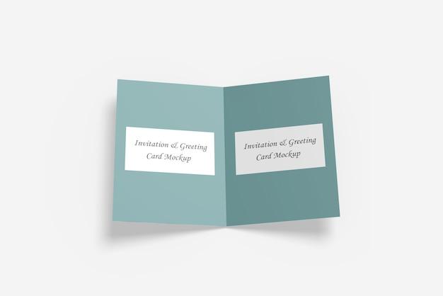 Gruß- oder einladungskarte mockup Premium PSD