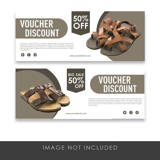 Gutscheinrabatt alle pantoffelsammelvorlage Premium PSD