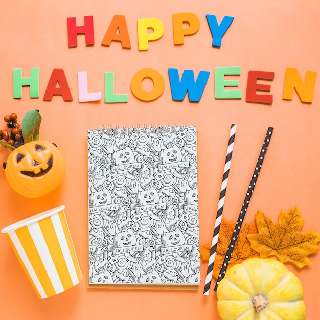 Halloween-buchcover-modell Kostenlosen PSD