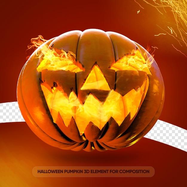 Halloween-kürbis 3d für zusammensetzung Premium PSD