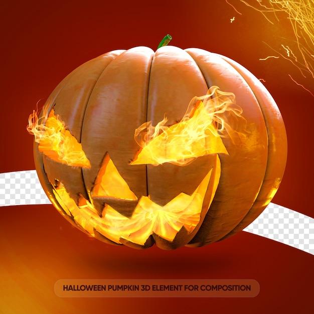 Halloween kürbis jack o laterne 3d rendern Premium PSD