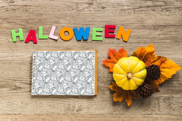 Halloween-notebook-cover-modell Kostenlosen PSD