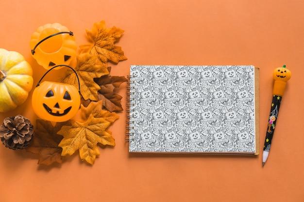 Halloween-notebook-modell Kostenlosen PSD