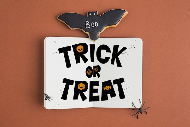 Halloween offenes buch-modell Kostenlosen PSD