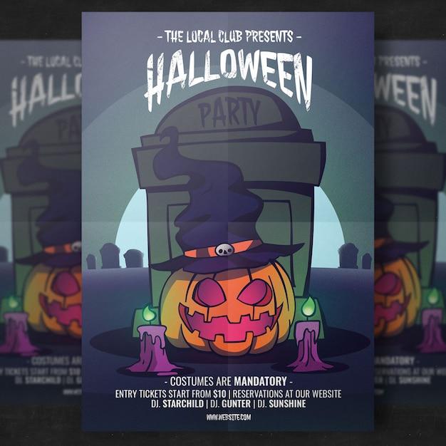 Halloween party flyer vorlage Kostenlosen PSD