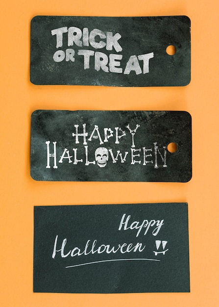 Halloween-tag-modell Kostenlosen PSD