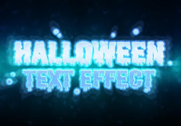Halloween-text-effekt-modell Premium PSD