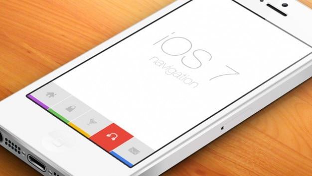 Handy flaches design mit ikonischen tasten Kostenlosen PSD