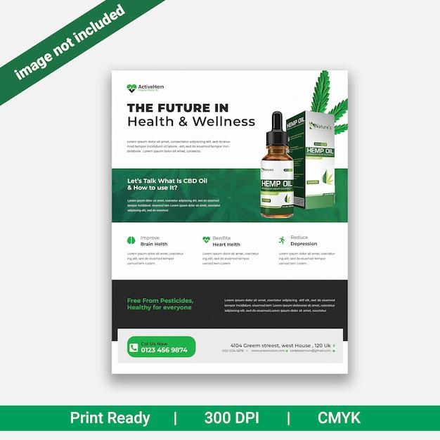 Hanf produkt flyer Premium PSD