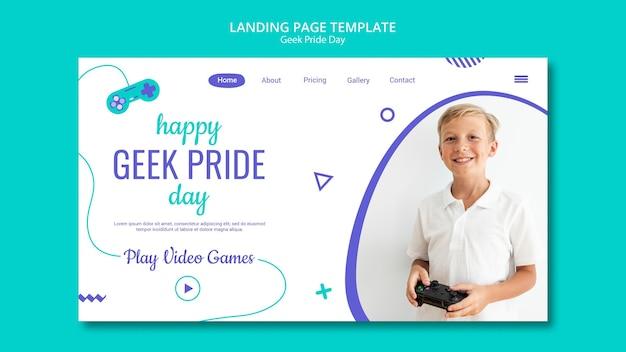 Happy geek pride day landingpage vorlage Kostenlosen PSD