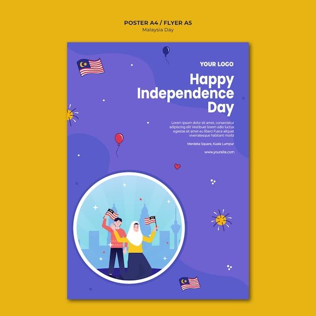 Happy independence day flyer vorlage Kostenlosen PSD