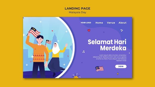 Happy malaysia daylanding seitenvorlage Kostenlosen PSD
