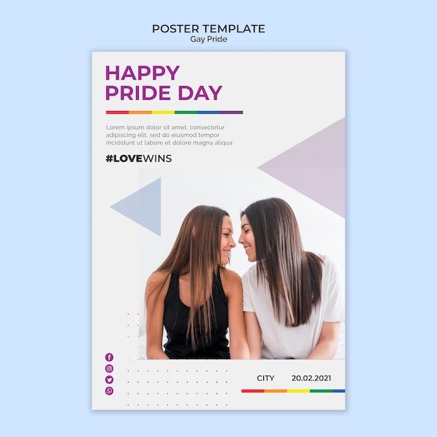 Happy pride day poster vorlage Kostenlosen PSD