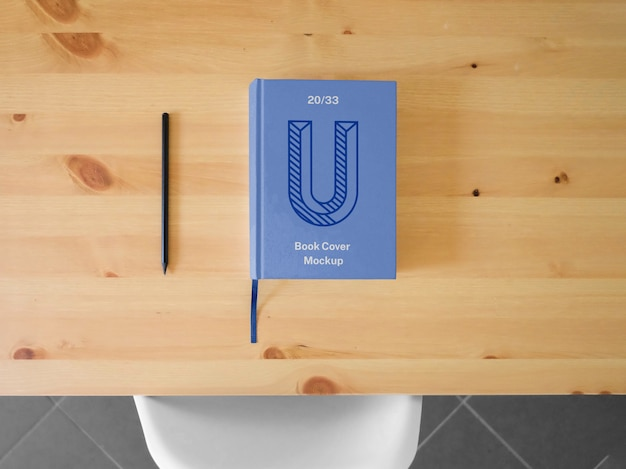 Hard book cover mockup Premium PSD