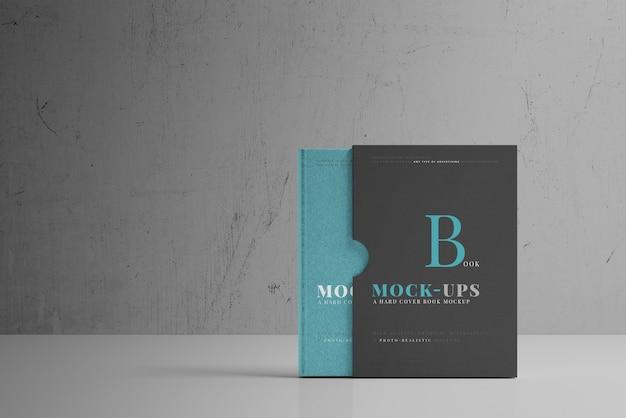 Hardcover-buchmodell mit buchhülle Kostenlosen PSD