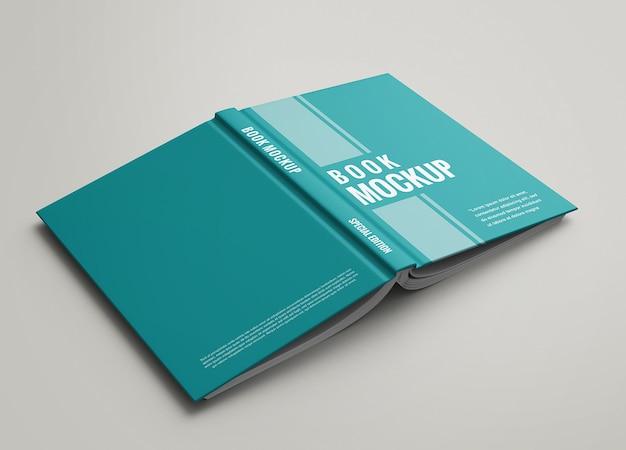 Hardcover vorder- und rückansicht des buchmodells Premium PSD