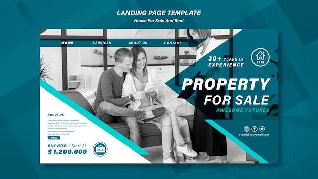 Haus, das landingpage verkauft Premium PSD