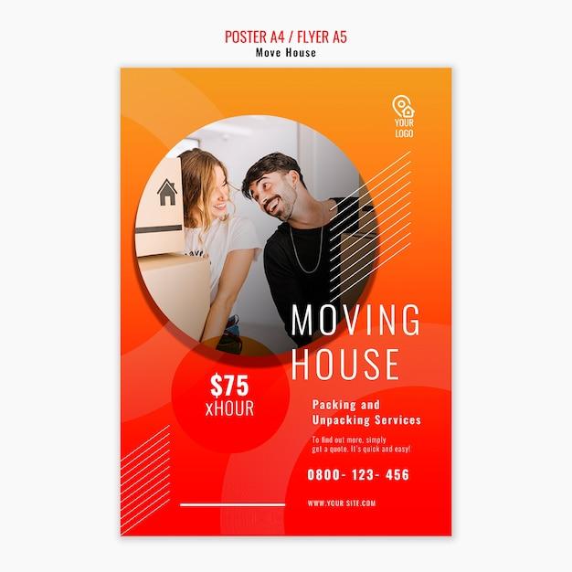 Haus flyer vorlage verschieben Kostenlosen PSD