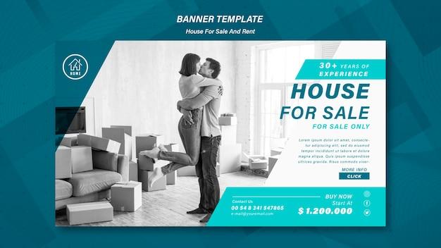 Haus verkauf banner vorlage Kostenlosen PSD