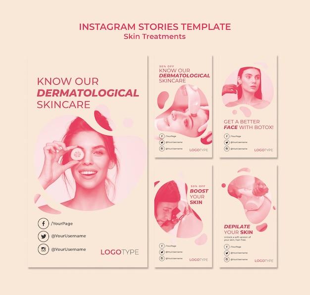 Hautbehandlungskonzept instagram geschichten vorlage Kostenlosen PSD