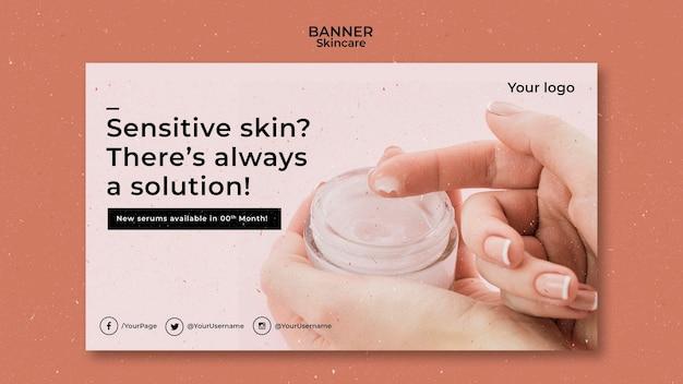 Hautpflege banner vorlage mit foto Kostenlosen PSD