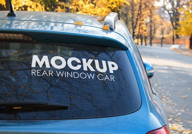 Heckscheibe auto mockup Premium PSD