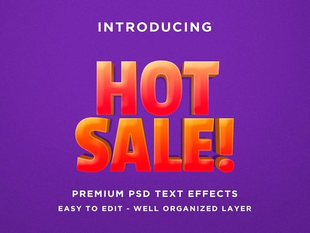 Heißer verkauf - schablone des effekt-psd des text-3d Premium PSD