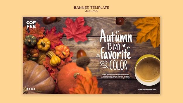 Herbst banner vorlage design Kostenlosen PSD
