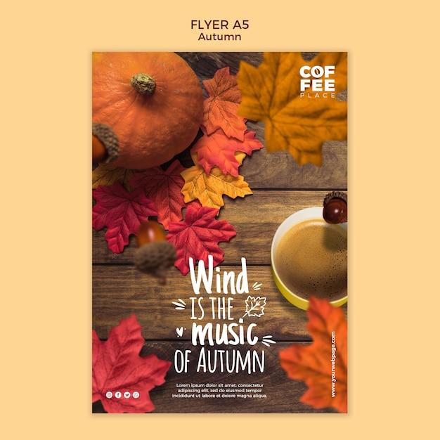 Herbst flyer vorlage stil Kostenlosen PSD