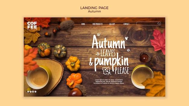Herbst landing page Kostenlosen PSD