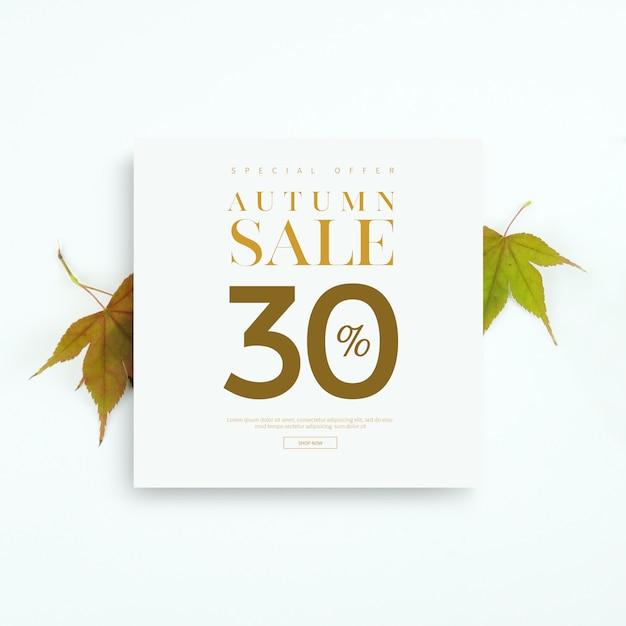 Herbst sale banner oder karte Premium PSD