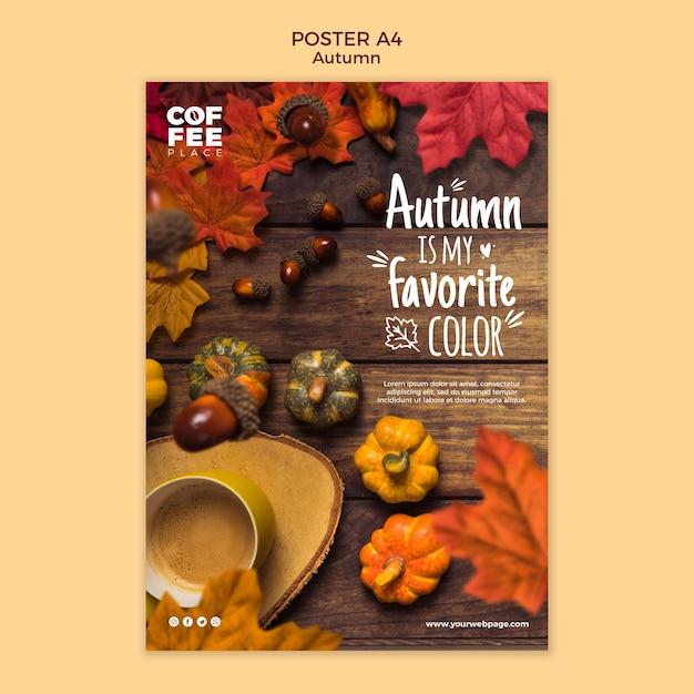 Herbstplakatvorlage Kostenlosen PSD