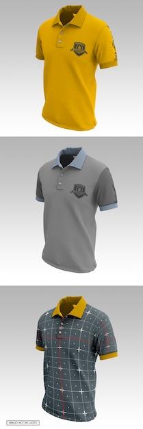 Herren polo t-shirts mockup Premium PSD