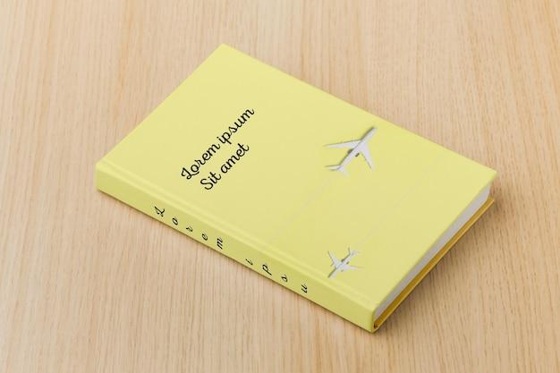 High angle minimalist book cover modellanordnung Kostenlosen PSD