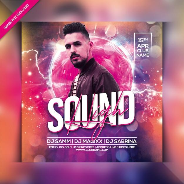 High sound party flyer Premium PSD