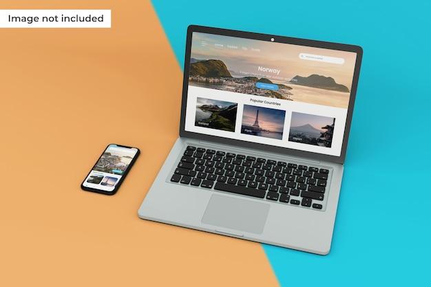 Hochwertiges modell für mobile geräte und laptops Premium PSD