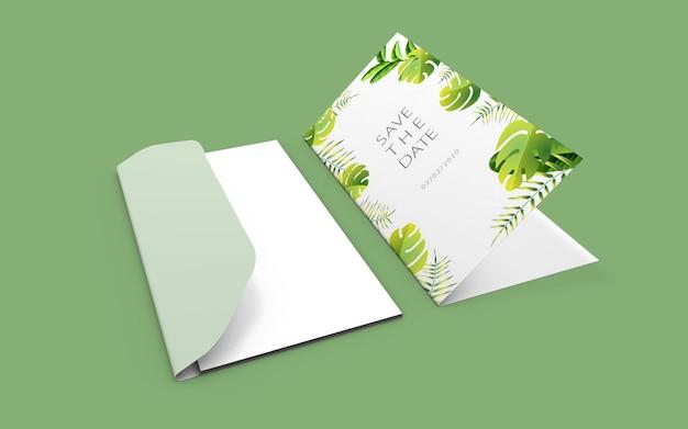 Hochzeitsnatur-kartenmodell Premium PSD