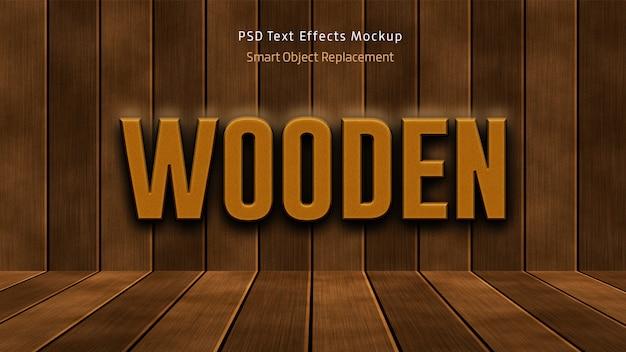 Hölzernes 3d-text-effektmodell Premium PSD