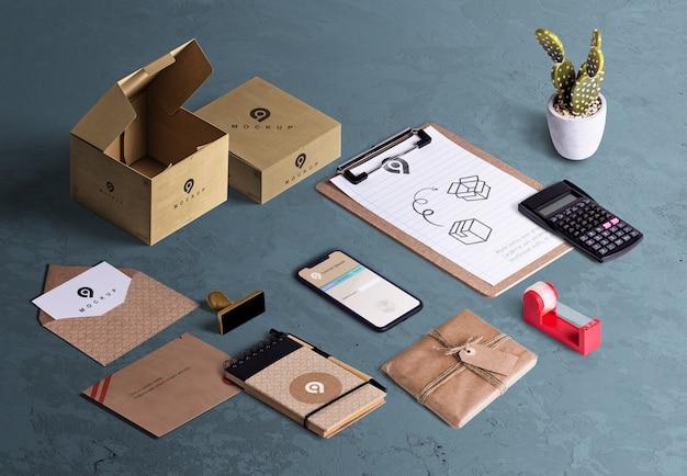 Hoher winkel des desktopszenen-ersteller-pac Kostenlosen PSD