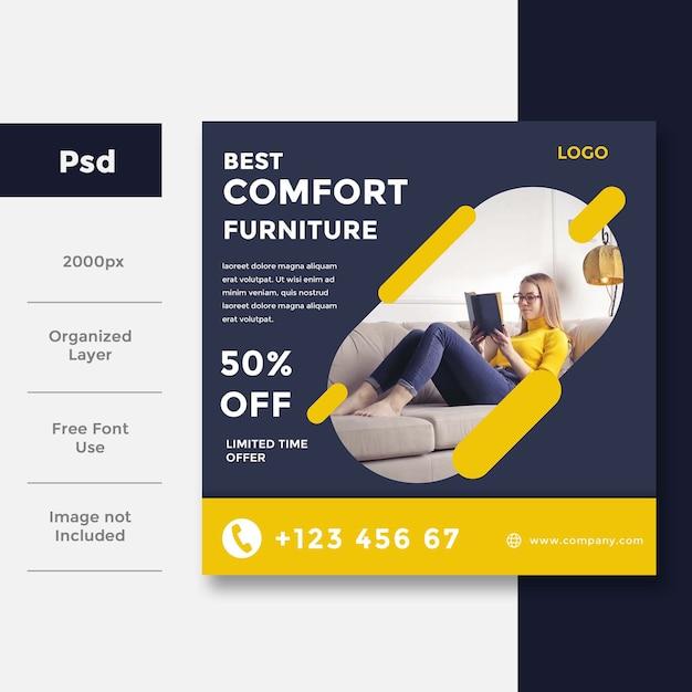 Home interior banner vorlage Premium PSD