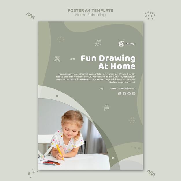 Home schooling poster vorlage Kostenlosen PSD