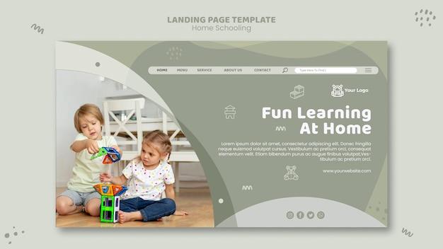 Home schooling vorlage landing page Premium PSD
