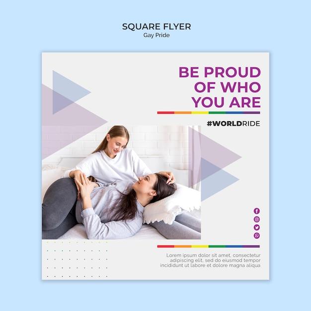 Homosexuell stolz quadratische flyer vorlage Kostenlosen PSD