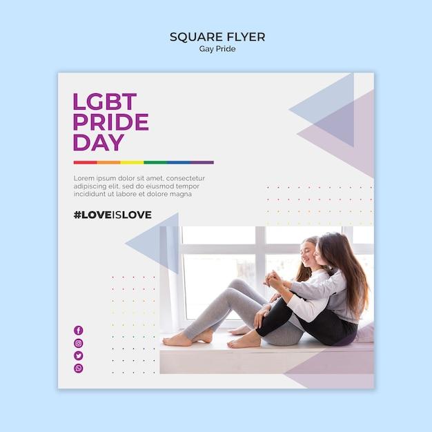 Homosexuell stolz quadratischen flyer-stil Kostenlosen PSD
