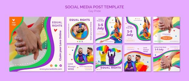 Homosexuell stolz social media post vorlage Kostenlosen PSD