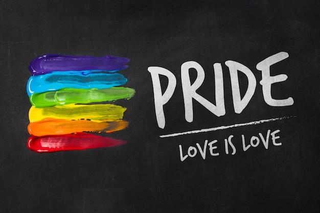 Homosexuelles stolzmodell der tafel Kostenlosen PSD