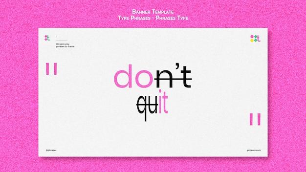 Horizontale bannervorlage für typphrasen Kostenlosen PSD