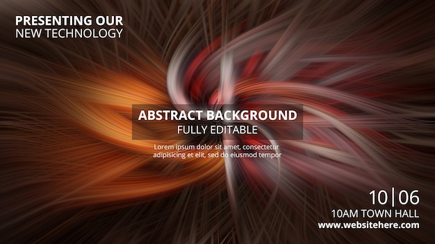 Horizontale fahnenschablone mit abstraktem technologiehintergrund Kostenlosen PSD