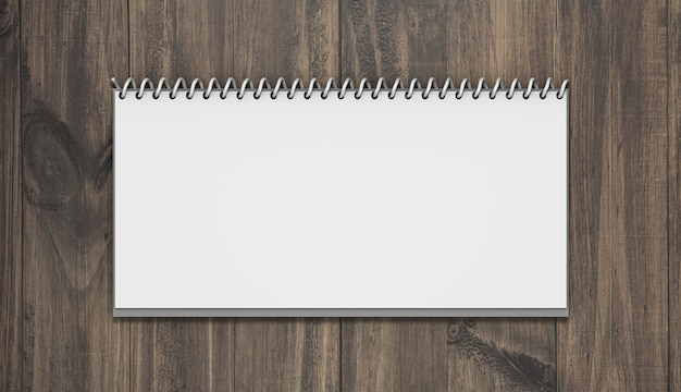 Horizontales kalendermodell mit holz Kostenlosen PSD